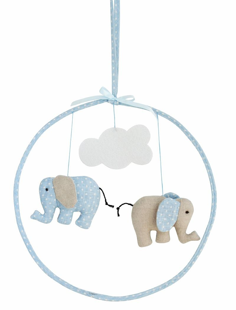 Alimrose Designs Hanging Mobile - Linen Elephant