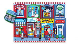 Children's Educational Wooden Peg Puzzle - Our Neighbourhood