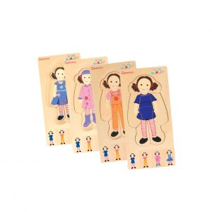 Discoveroo Wooden Layer Puzzle - Play School Jemima