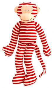 Alimrose Designs Soft Rattle - Monkey Red Stripe