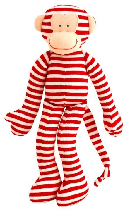 Alimrose Designs Soft Rattle - Monkey Red Stripe
