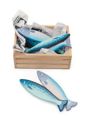 Le Toy Van Honeybake Wooden Fresh Fish in Crate