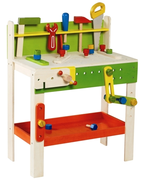 EverEarth Large Wooden Carpenters Work Bench with Tools