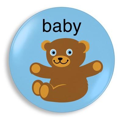 Jane Jenni Melamine Dinner Plate - Baby Bear Blue Boy