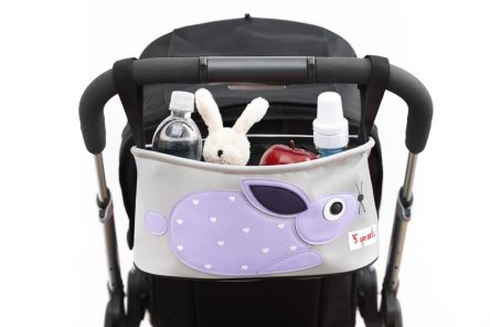 3 Sprouts Stroller / Pram Organiser - Rabbit