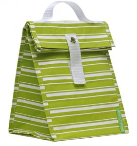 Lunchskins Lunch Tote - Green Stripe