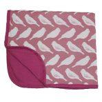 Zebi Baby Stroller Blanket - Plum Bird