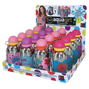 AQUA GIRL Stainless Steel Drink Bottle 370ml