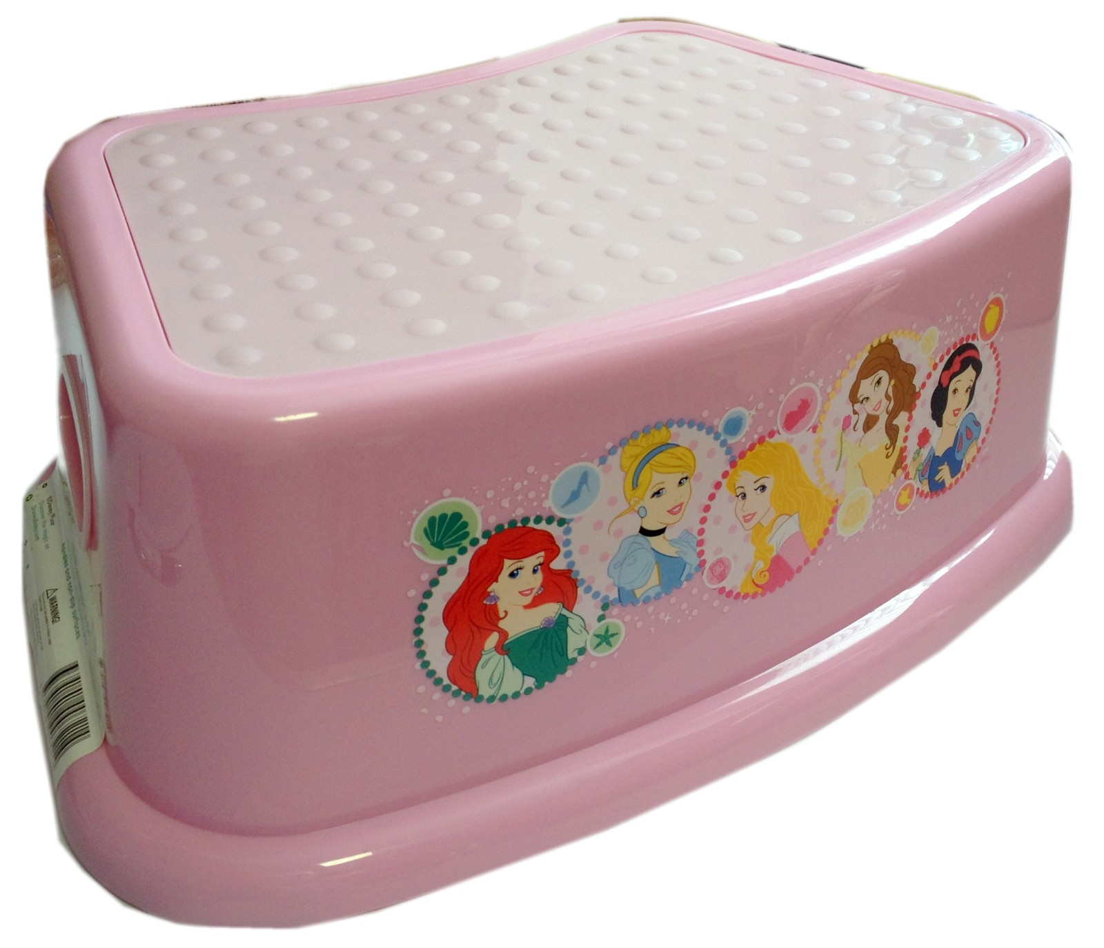 Disney Princess Pink Plastic Step Stool