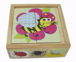 Kaper Kidz Wooden Insect Puzzle Box - Set 6