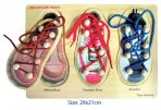 Children's Wooden Lacing Puzzle - Learn to Tie Shoes