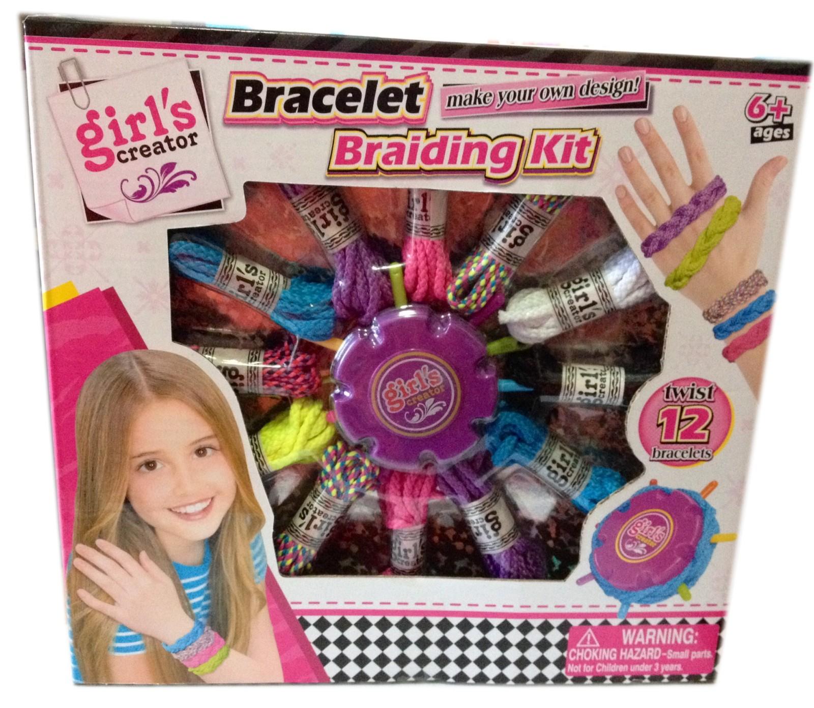 Girls creator bracelet braiding kit