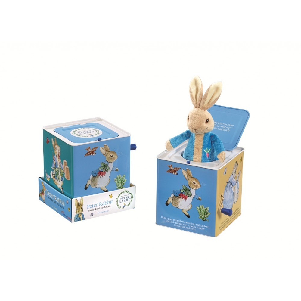 Beatrix Potter Peter Rabbit Musical Tin Jack in The Box