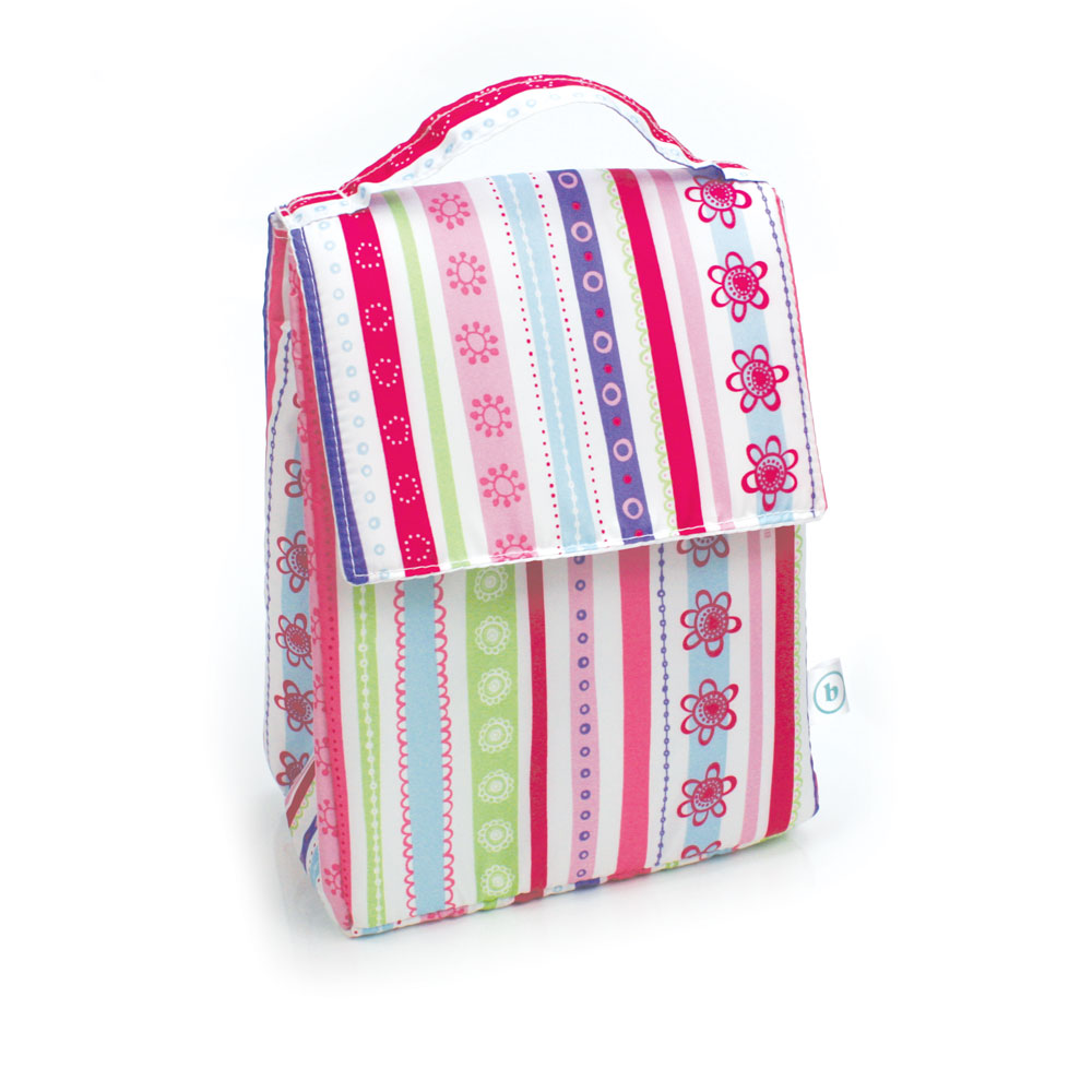 Bumkins Insulated Lunch Bag - Pretty Ribbons