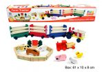 Large Wooden Toy Tractor with Farm Animals, Fence & More