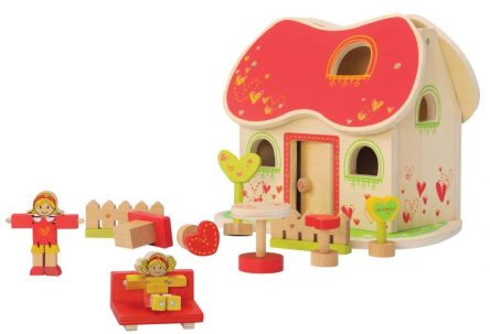 EverEarth Fairytale Dolls House with furniture and dolls