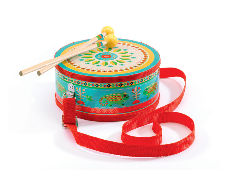 Djeco Drum with Carry Strap