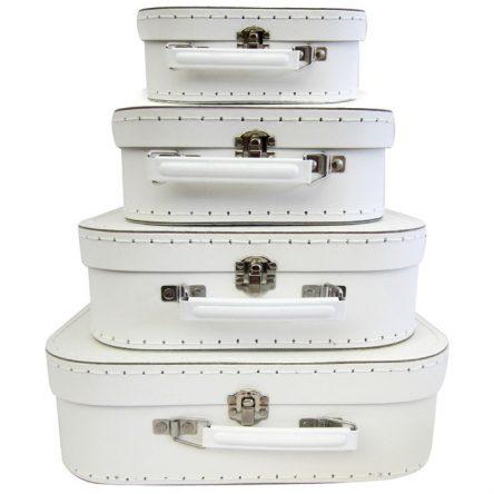 Decor Suitcase Set of 4 - White