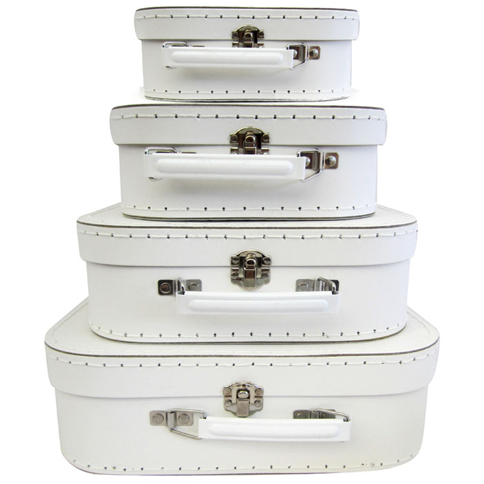 Decor Suitcase Set of 4 - White