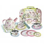 Kaper Kidz Pretty Bird design Tin Tea Set in Carry Case