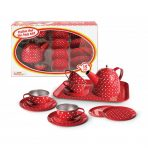 Kaper Kidz Red Spot Tin Tea Set