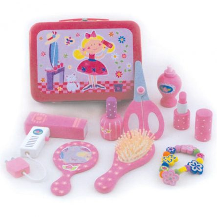 Beauty Makeover Play Set in Tin Carry Case