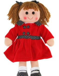 Hopscotch Collectibles Rag Doll - Scarlett 35cm