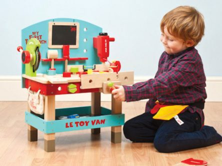 Le Toy Van Wooden My First Tool Bench with Tools