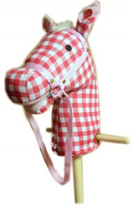 Ride On Wood & Plush Hobby Horse - Cherry Ripe