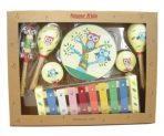 Kaper Kidz Wooden 7-pc Musical Instrument Percussion Set - Owl