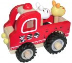 Wooden Zoo Truck with Rubber Wheels