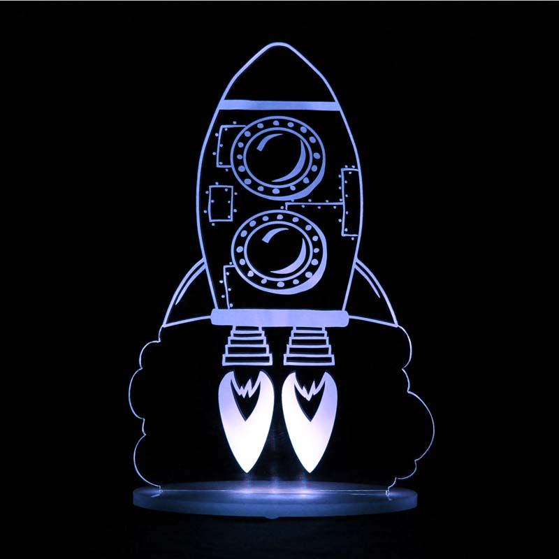 My Dream Light Childrens LED Night Light - Rocket