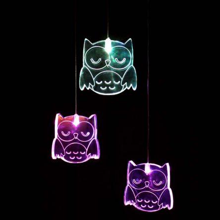 My Dream Light Childrens LED Night Light Mobile - Owl