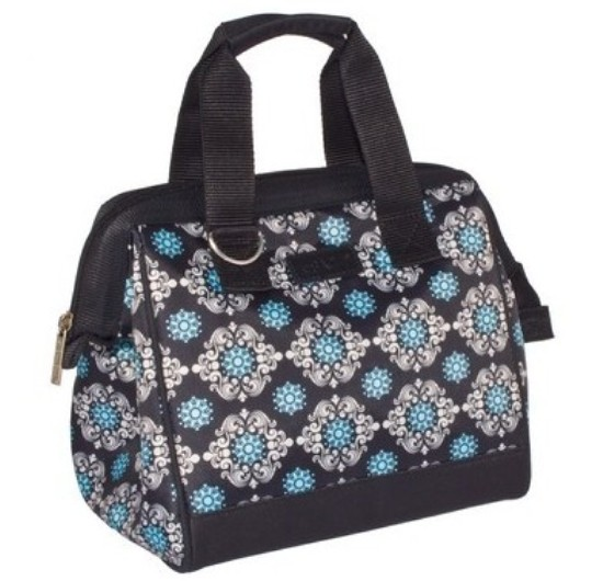 Sachi Insulated Lunch Tote Bag - Blue Medallion
