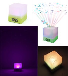 Playette Star Glow Cube Star Projector & Sound Machine