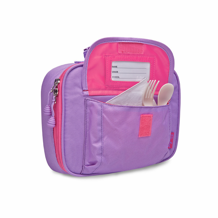 fc639632264f Bixbee Insulated Lunch Bag - Sparkalicious Glitter Purple