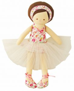Alimrose Designs Soft Doll - Allegra Ballerina Doll 35cm -Floral
