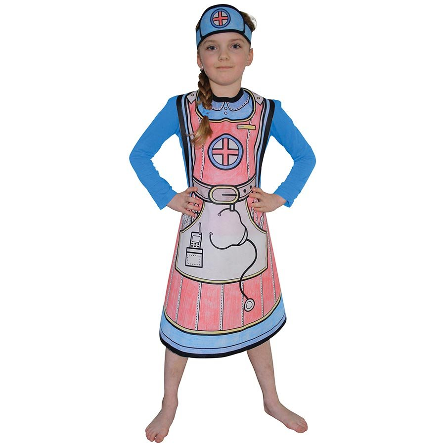 sc 1 st  Baby Vegas & Colour Your Costume - Childrens Colouring Dress Up Kit - Nurse