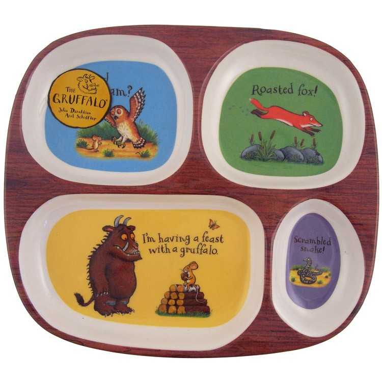 sc 1 st  Baby Vegas & Childrens Melamine Divided Plate - The Gruffalo