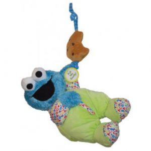 Sesame St Cookie Monster Soft Musical Pull Toy