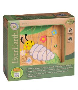 EverEarth ECO Amazon 9pc Wooden Stacking Block Puzzle