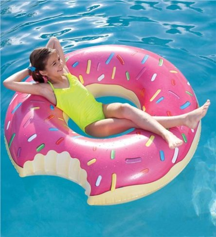 Pumpt Inflatable Pool Toy - Giant Donut Pink