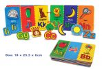 Fun Factory Childrens Wooden Magnetic Alphabet Book