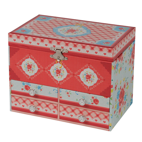 Tiger tribe jewellery box large english rose for Girls large jewelry box