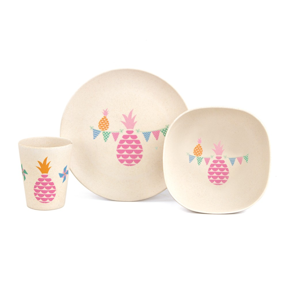 Penny Scallan Bamboo Dinner Set - Pineapple Bunting