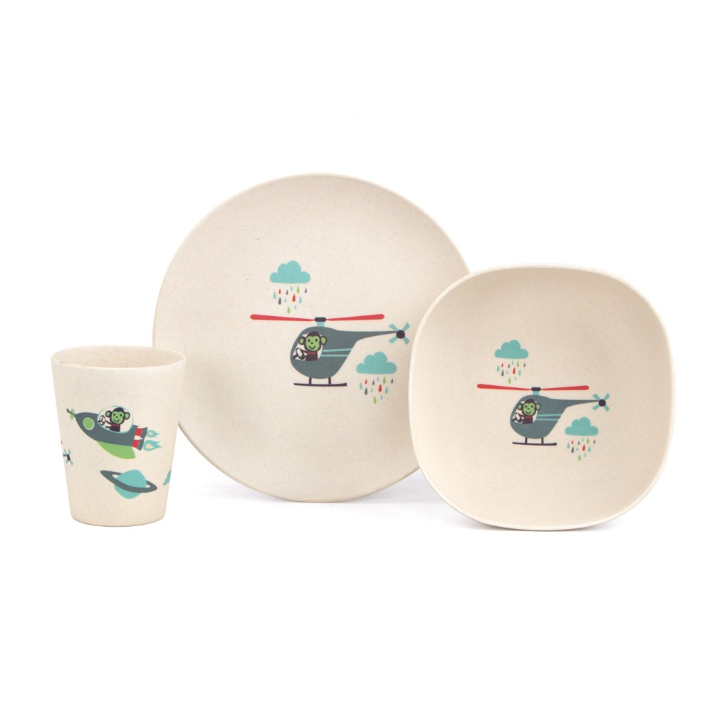 Penny Scallan Bamboo Dinner Set - Space Monkey