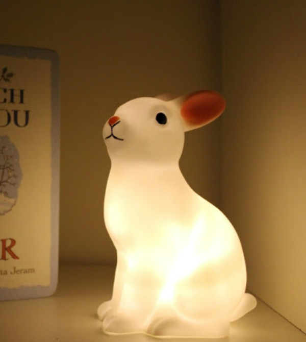 Colour Changing LED Rabbit Lamp Childrens Night Light