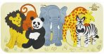 andZee Naturals Wooden Raised Puzzle - Zoo Animals