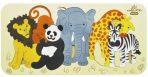 andZee Naturals Wooden Raised Puzzle - Zoo Animals