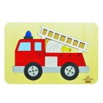 andZee Naturals Wooden Puzzle - Fire Engine